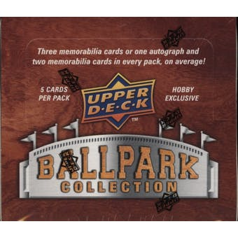 2008 Upper Deck Ballpark Collection Baseball Hobby Box