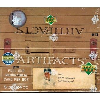 2007 Upper Deck Artifacts Baseball 24-Pack Box