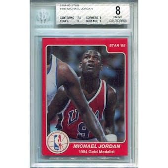 1984/85 Star #195 Michael Jordan Olympic BGS 8 *3568 (Reed Buy)