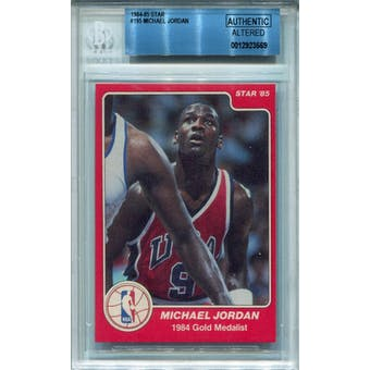 1984/85 Star #195 Michael Jordan Olympic BGS AUTH Altered *3569 (Reed Buy)