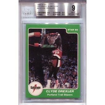 1985 Star Gatorade Slam Dunk #4 Clyde Drexler BGS 9 *3592 (Reed Buy)