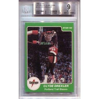 1985 Star Gatorade Slam Dunk #4 Clyde Drexler BGS 9 *3593 (Reed Buy)