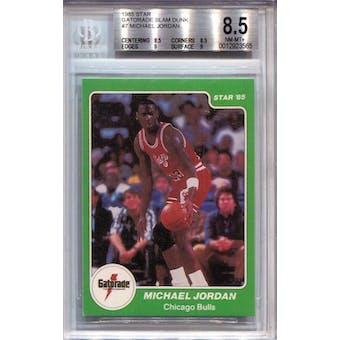 1985 Star Gatorade Slam Dunk #7 Michael Jordan BGS 8.5 *3565 (Reed Buy)