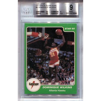 1985 Star Gatorade Slam Dunk #8 Dominique Wilkins BGS 9 *3594 (Reed Buy)