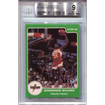 1985 Star Gatorade Slam Dunk #8 Dominique Wilkins BGS 9 *3595 (Reed Buy)