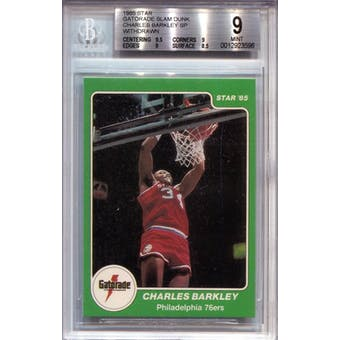 1985 Star Gatorade Slam Dunk #NNO Charles Barkley SP BGS 9 *3596 (Reed Buy)
