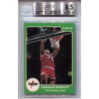 1985 Star Gatorade Slam Dunk #NNO Charles Barkley SP BGS 8.5 *3597 (Reed Buy)