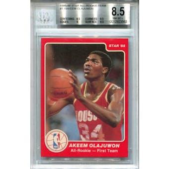 1985/86 Star All-Rookie Team #1 Hakeem Olajuwon BGS 8.5 *3563 (Reed Buy)