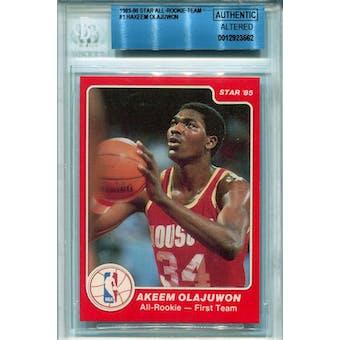 1985/86 Star All-Rookie Team #1 Hakeem Olajuwon BGS AUTH Altered *3562 (Reed Buy)