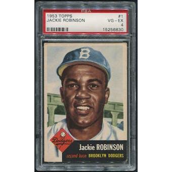 1953 Topps Baseball #1 Jackie Robinson PSA 4 (VG-EX)