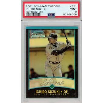 2001 Bowman Chrome Refractor #351 Ichiro Suzuki PSA 9 *8406 (Reed Buy)
