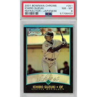 2001 Bowman Chrome Refractor Japanese #351 Ichiro Suzuki PSA 8 *8403 (Reed Buy)
