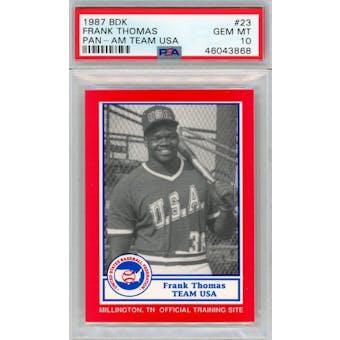 1987 BDK Pan-Am Team USA  #23 Frank Thomas PSA 10 *3868 (Reed Buy)
