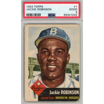 1953 Topps #1 Jackie Robinson PSA 2 *7242 (Reed Buy)