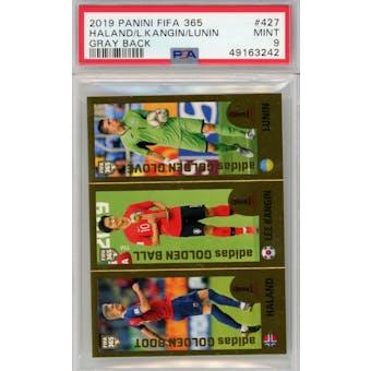 2019 Panini FIFA 365 #427 Haaland/Kangin/Lunin PSA 9 *3242 (Reed Buy)