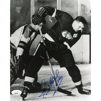 Sid Abel Red Wings Autographed 8x10 B&W Photo JSA QQ09781 (Reed Buy)