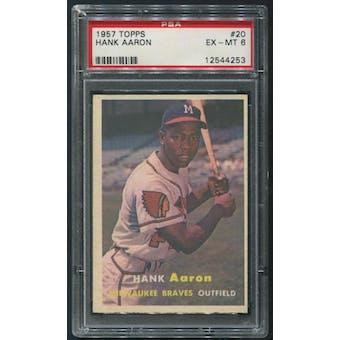 1957 Topps Baseball #20 Hank Aaron PSA 6 (EX-MT)