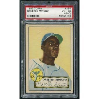 1952 Topps Baseball #195 Minnie Minoso Rookie PSA 4 (VG-EX) (MC)
