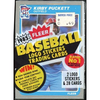 1985 Fleer Baseball Cello Pack (Kirby Puckett RC top) (Reed Buy)