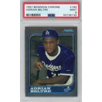 1997 Bowman Chrome #182 Adrian Beltre RC PSA 9 *6132 (Reed Buy)