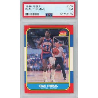 1986/87 Fleer #109 Isiah Thomas RC PSA 7 *6135 (Reed Buy)