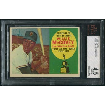 1960 Topps Baseball #316 Willie McCovey Rookie BVG 4.5 (VG-EX+)