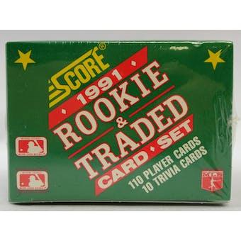 1991 Score Traded & Rookies Baseball Factory Set (Lot of 5) (Reed Buy)