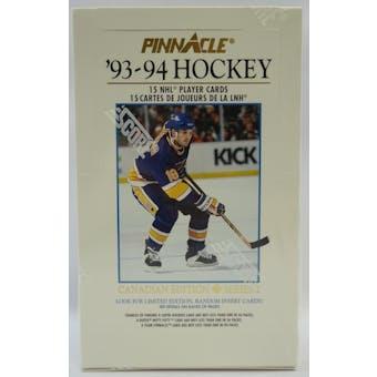 1993/94 Pinnacle Series 2 Canadian Hockey Hobby Box (Reed Buy)