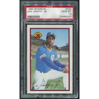 1989 Bowman Baseball #220 Ken Griffey Jr. Rookie PSA 10 (GEM MT)