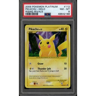 Pokemon Platinum Rising Rivals Pikachu 112/111 PSA 8