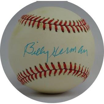 Billy Herman Autographed NL White Baseball JSA QQ09618 (Reed Buy)