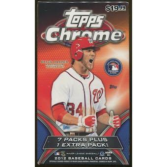 2012 Topps Chrome Baseball 8 Pack Blaster Box