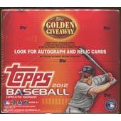 2012 Topps Update Series Baseball Retail Box (Target Red-Bordered Parallels)