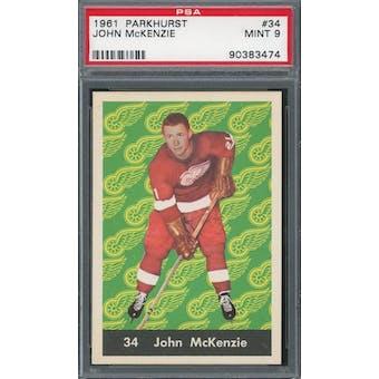 1961/62 Parkhurst #34 John McKenzie PSA 9 *3474 (Reed Buy)