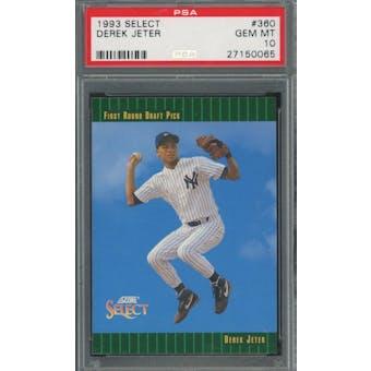 1993 Select #360 Derek Jeter RC *0065 (Reed Buy)