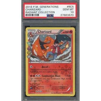 2016 Pokemon Generations Charizard RC5/RC32 Radiant Collection PSA 10 *3670 (Reed Buy)