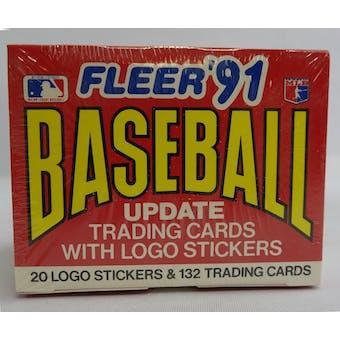 1991 Fleer Update Baseball Factory Set (Reed Buy)