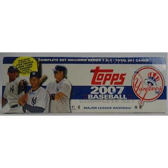 2007 Topps Factory Set Baseball (Box) (New York Yankees) (Reed Buy)