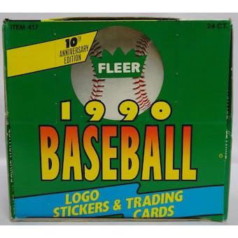 1990 Fleer Baseball Jumbo Cello Box (Reed Buy)