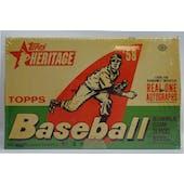2007 Topps Heritage Baseball Hobby Box (Reed Buy)