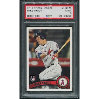 2011 Topps Update Baseball #US175 Mike Trout Rookie PSA 9 (MINT)