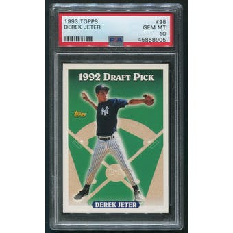 1993 Topps Baseball #98 Derek Jeter Rookie PSA 10 (GEM MT)