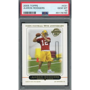 2005 Topps #431 Aaron Rodgers RC PSA 10 *8785 (Reed Buy)