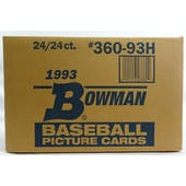 1993 Bowman Baseball Hobby 24-Box Case (Reed Buy)