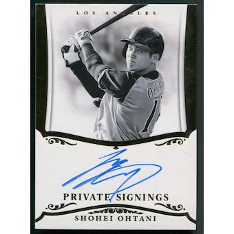 2018 Donruss Private Signings #PSS03 Shohei Ohtani Rookie Auto #34/50