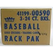 1989 Fleer Baseball Error Rack 3-Box Case (Reed Buy)