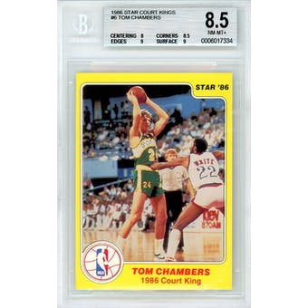 1986 Star Court Kings #6 Tom Chambers BGS 8.5 8/9/8.5/9 *7334 (Reed Buy)