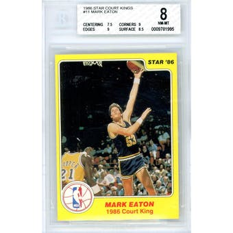 1986 Star Court Kings #11 Mark Eaton BGS 8 7.5/9/9/8.5 *1995 (Reed Buy)