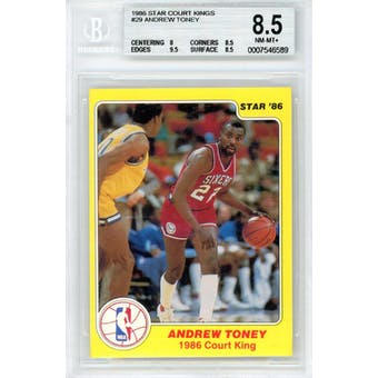 1986 Star Court Kings #29 Andrew Toney BGS 8.5 8/9.5/8.5/8.5 *6589 (Reed Buy)