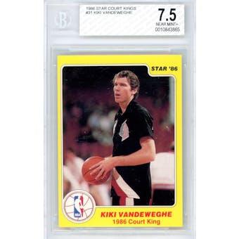 1986 Star Court Kings #31 Kiki Vandeweghe BGS 7.5 *3865 (Reed Buy)